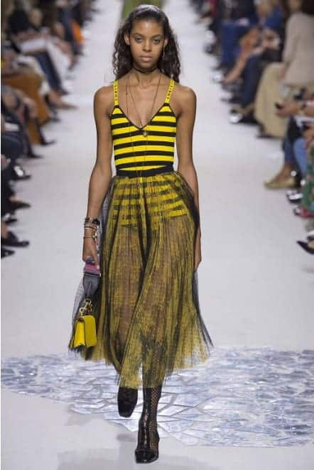 bumble bee dress dior